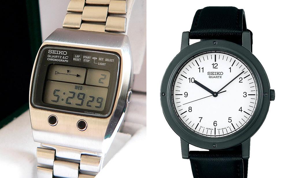 Relojes Seiko de Steve Jobs LCD M159-5059  y  Seiko Nano 6431-6030 Chariot