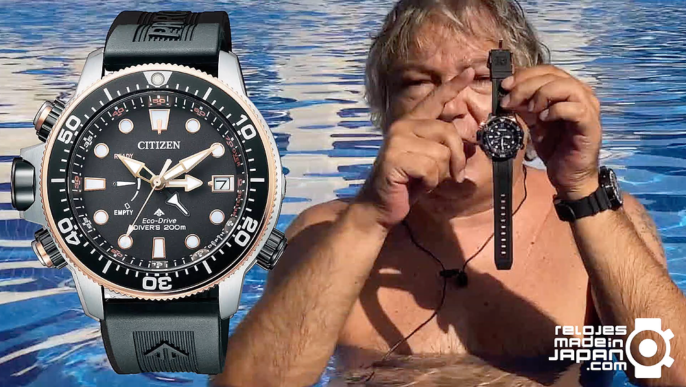 Reportaje en video y en castellano del reloj Citizen Promaster Eco Drive Aqualand 200M serie BN203