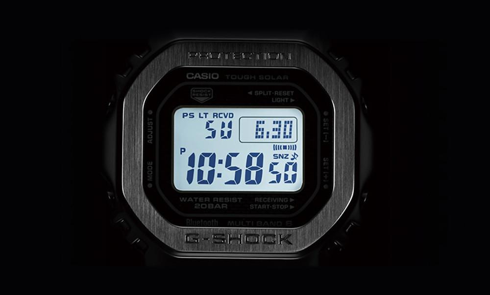 retoiluminación led nocturna en los casio G-Shock GMW-B5000