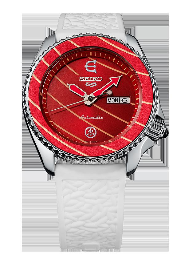 reloj edicion limitada seiko 5 sports x evisen skateboards SRPF95k1