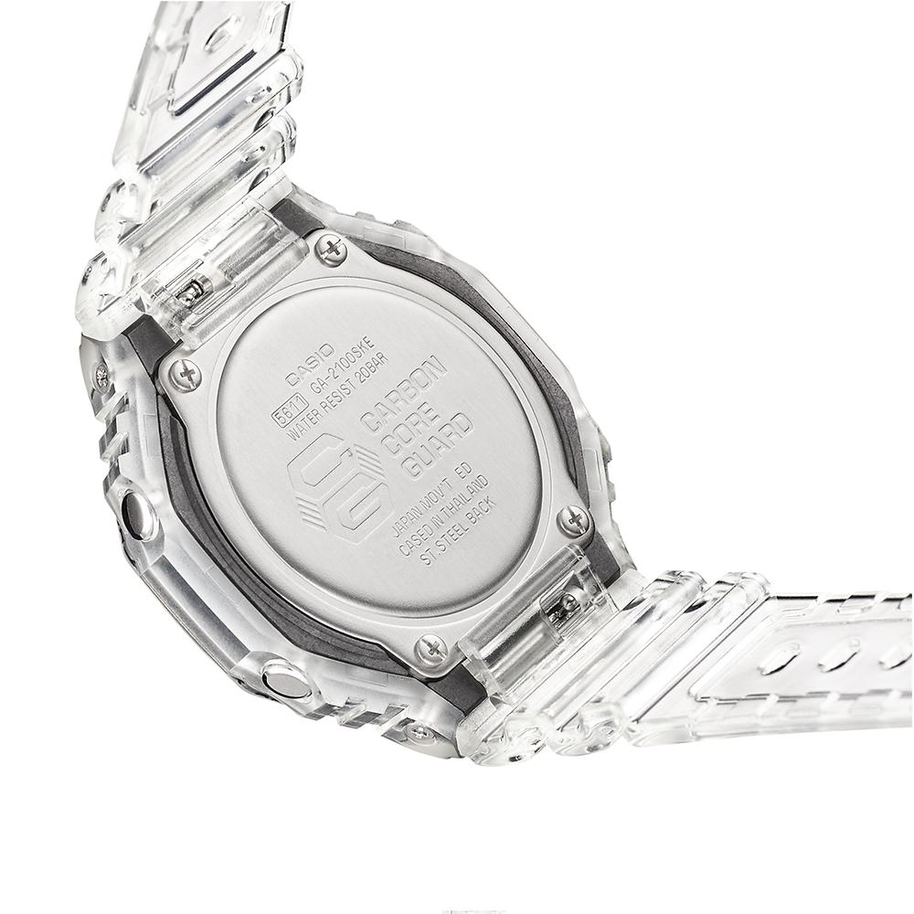 fondo reloj ga-2100ske-7aer carbon core guard skeleton 2021
