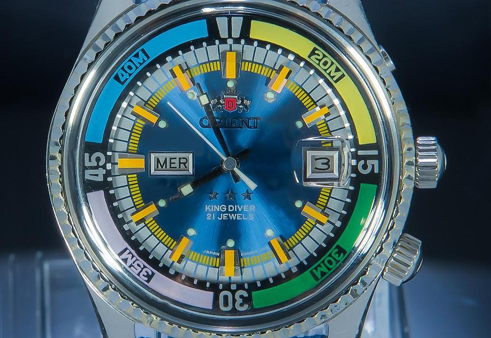 reloj japonés para buzos Orient King Diver de los 70
