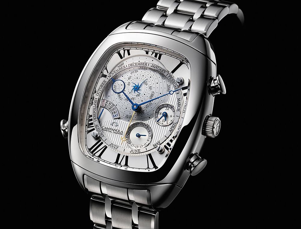 reloj campanola complicacion calendario perpetuo AG6250-50A calibre cuarzo 6704