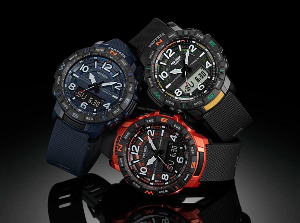gama nuevos relojes casio protrek prt-b50  españa. bluetooth, quadsensor como ggb100
