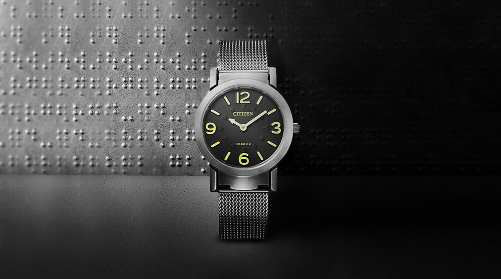 Reloj táctil para invidentes de Citizen modelo AC2200-55E