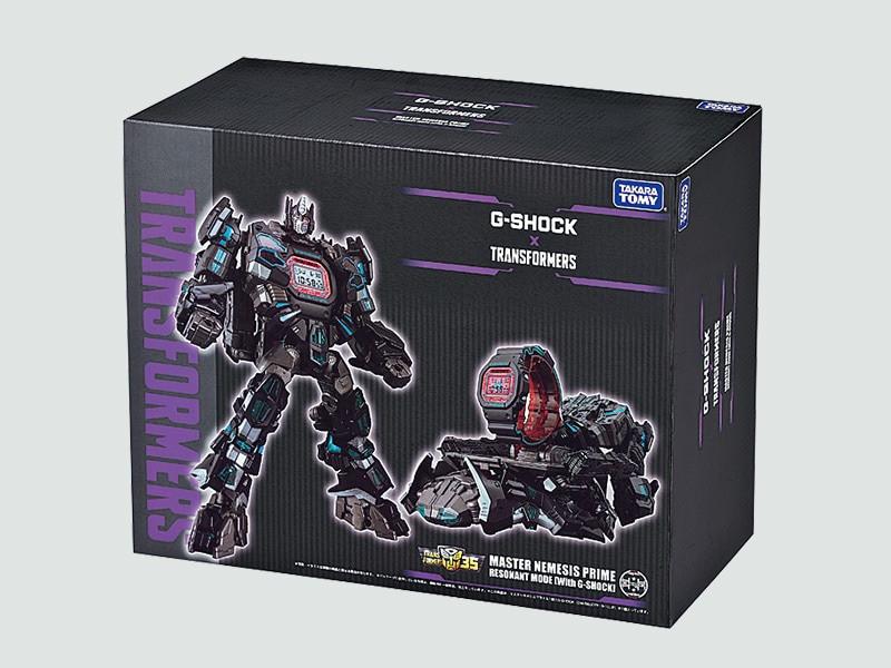 Packaging de edicion limitada Master Genesis Prime con reloj G-Shock