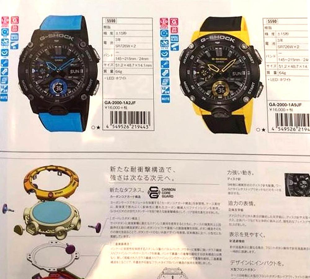 Nuevos relojes Casio G-SHock 2019. Novedades de lo que esta por llegar a España