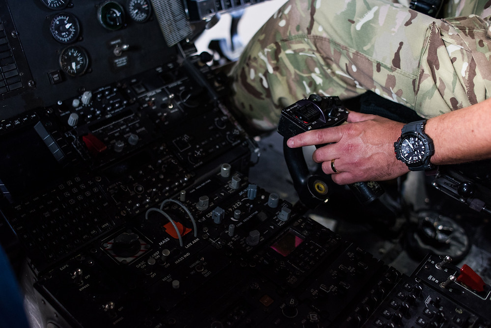Imagen promocional reloj para la Royal Air Force G-Shock GPW-1000RAF-1AJR