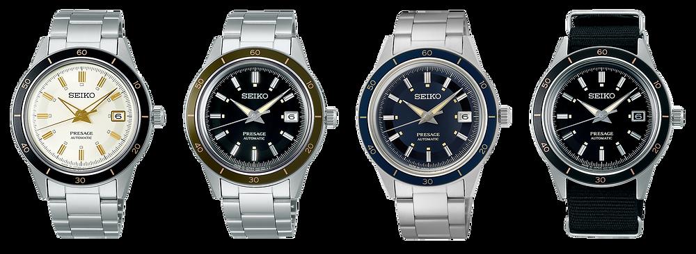 4 nuevos relojes seiko presage 4r35 vintage style60's