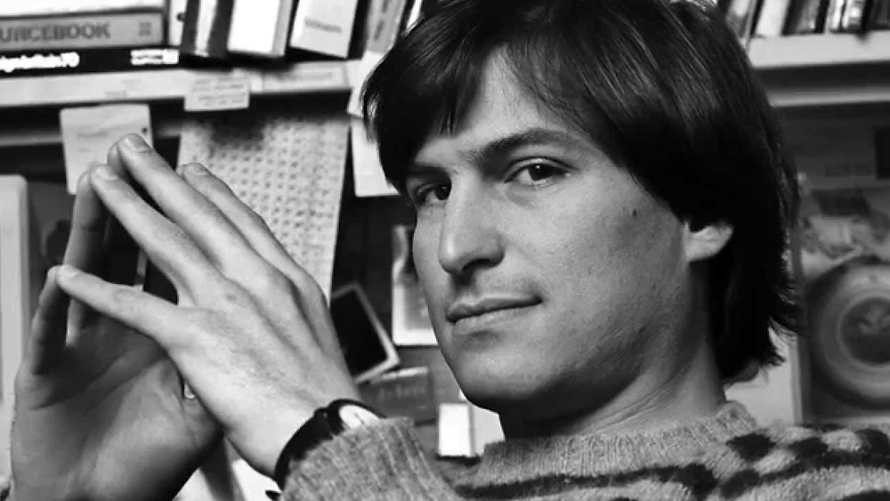 Steve jobs en 1984 con su reloj Seiko Chariot