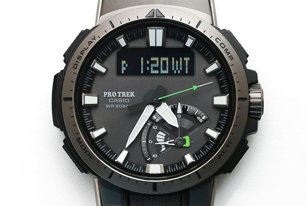 Casio Pro-Trek reloj alpinistas slim PRW-70Y-1ER
