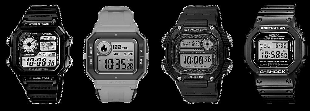 comparativa amazfit neo contra casio G-Shock dw5600 básico