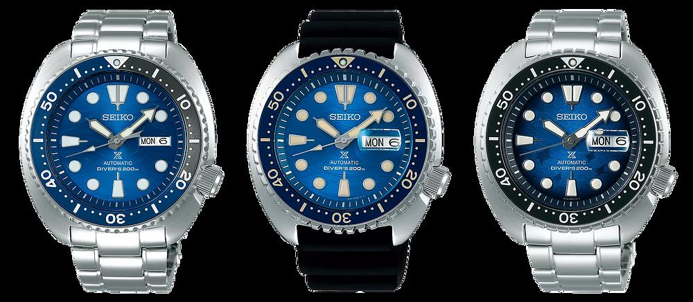 seiko tortuga, reloj diver's SRPD21 (2019), SRPE07 y SRPE39 (2020)