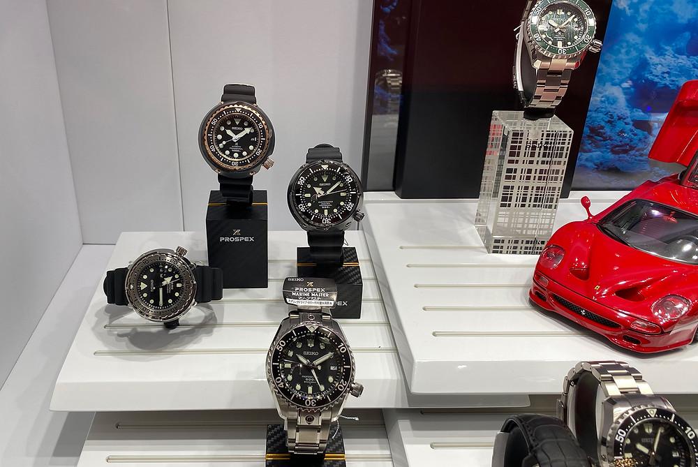 Detale espacio prospex LX, linea spring drive de seiko en relojes deportivos japoneses