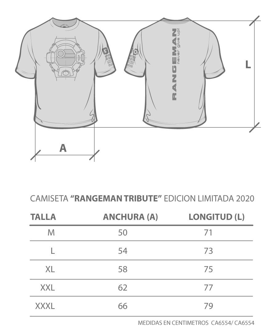 Tallas disponibles camiseta frogman 2020 relojesmadeinjapan