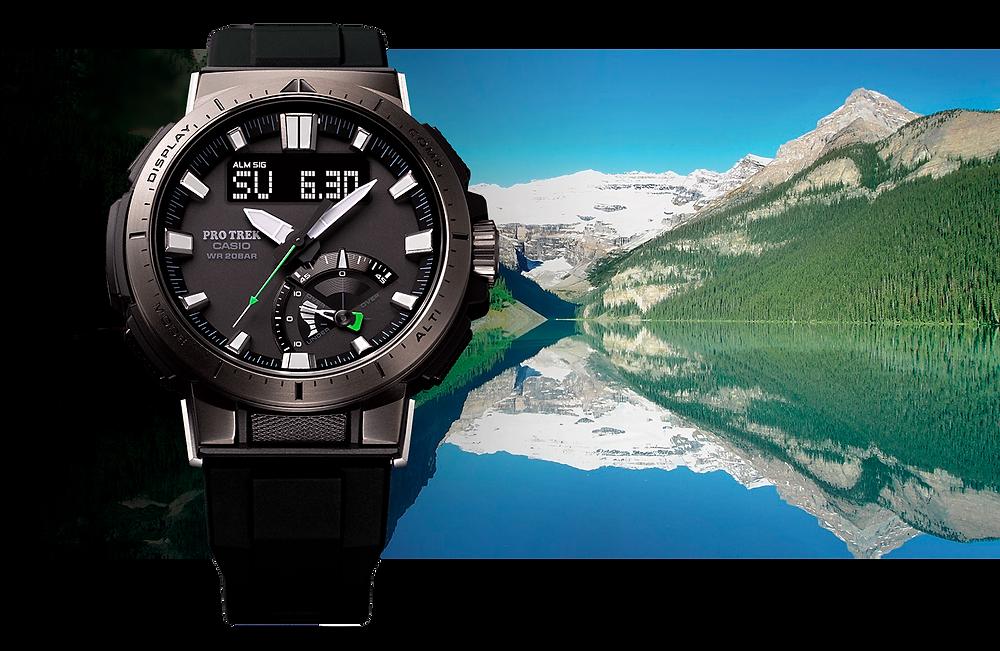 reloj casio protrek PRW-70Y-1 triple sensor.
