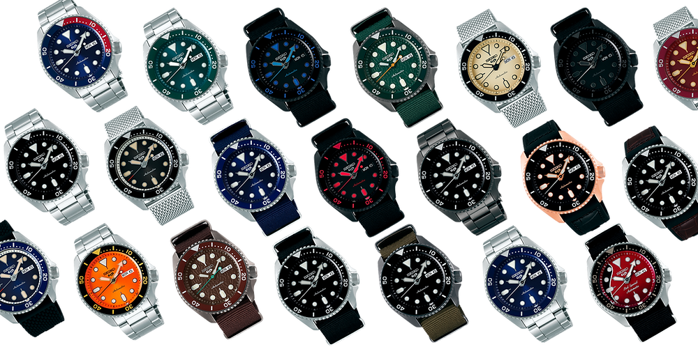 La serie 5 de relojes SEIKO la forman 27 modelos con esferas y acabados diferentes