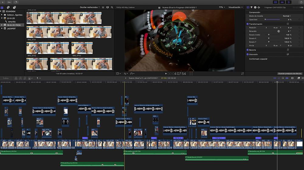 video analisis nuevo reloj Diver's Casio G-Shock Frogman modelo GWFA1000