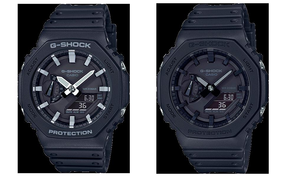 Relojes muy buscados de moda Casio G-Shock GA-2100-1A y GA-2100-1A1 negros