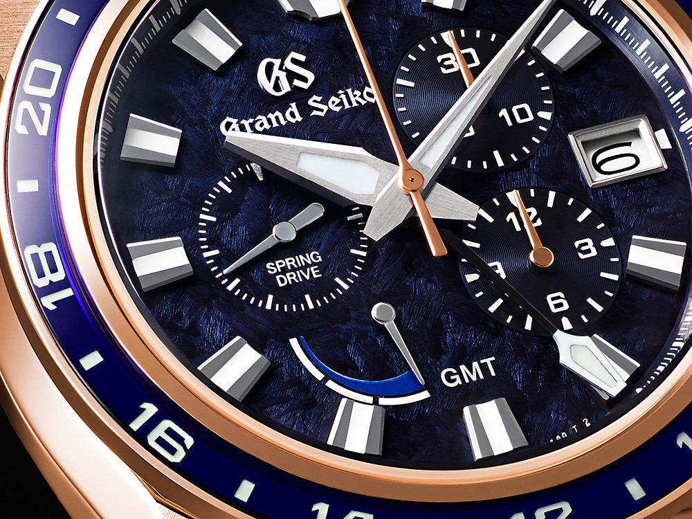 detalle esfera Grand Seiko 100 piezas numeradas SBGC238 KATSU-IRO