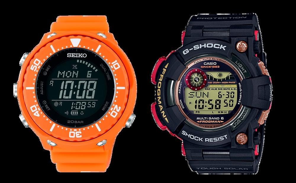 Seiko Prospex Fieldmaster comparado con G-SHOCK Frogman serie GWF1000