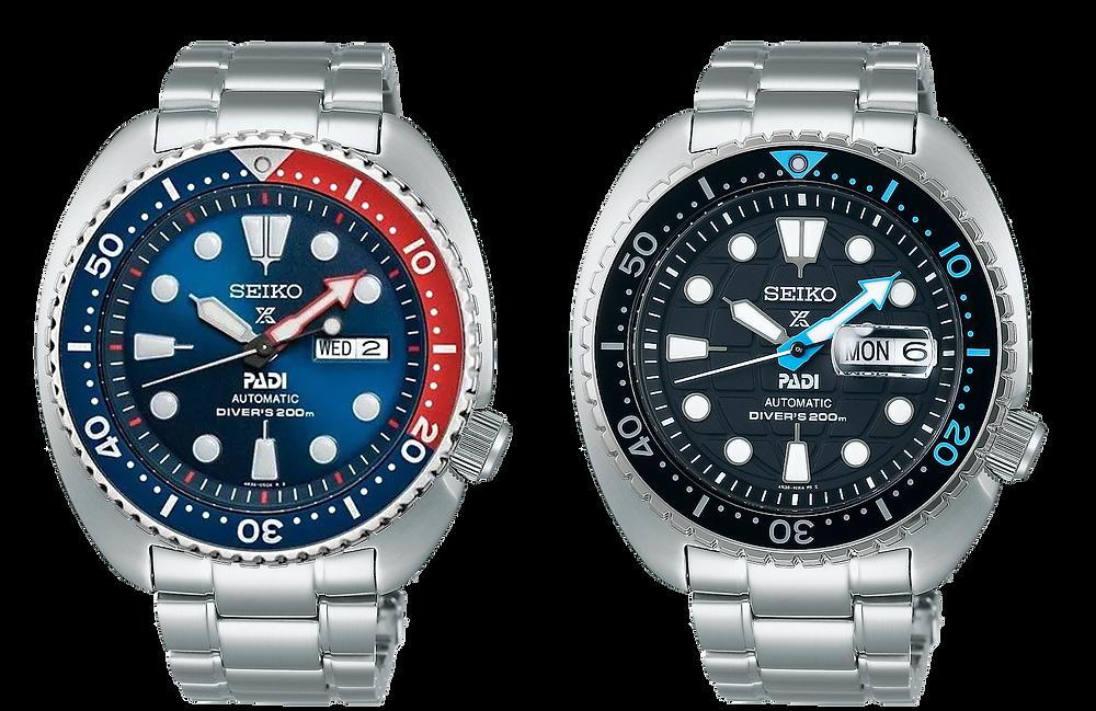 comparativa de cambio de colores entre el seiko padi tortuga SRPE99K1 y el nuevo 2021 SRPG19K1