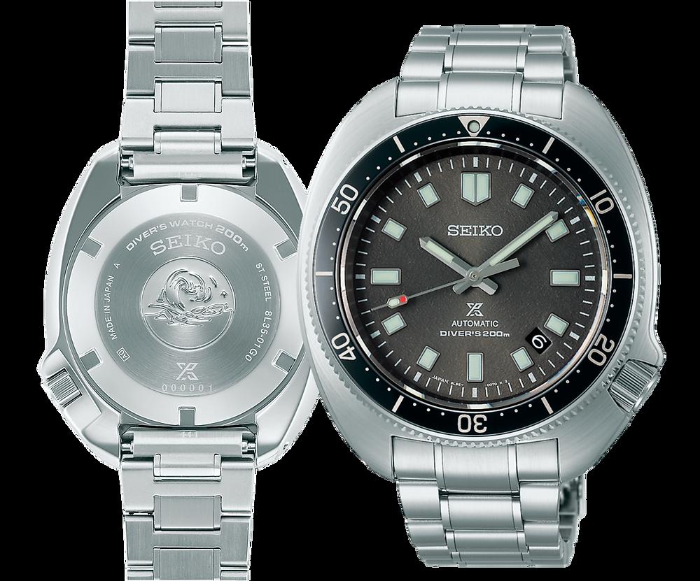 Detalle tapa fondo y esfera reloj novedad 2021 #apo SLA051J1 de Seiko prospex