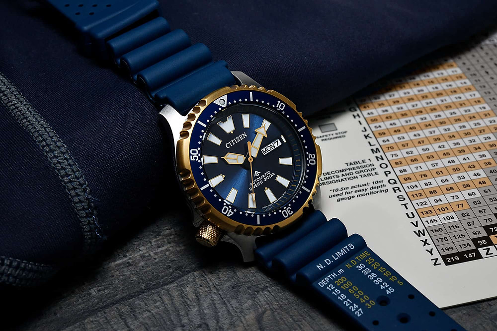 Reloj Citizen promaster automatico ref. ny0096-12l