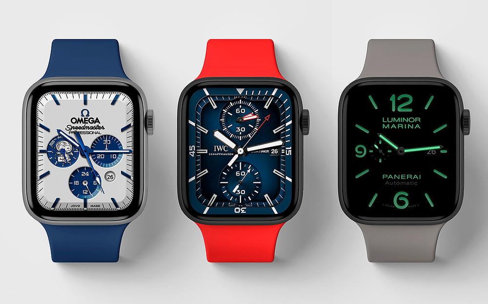 relojes IWC, Omega, Panerai, esferas watchfaces Apple