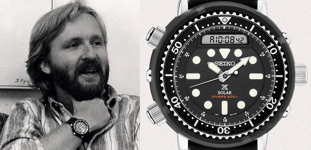 James Cameron director de cine con reloj Seiko Arnie h558-5009 h558-5000 SNJ025