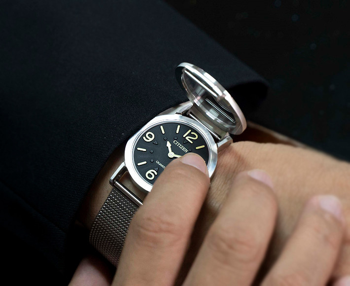 Reloj Citizen para perosnas con discapacidad visual modelo AC2200-55E