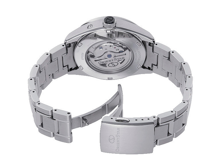 detalle corona ceramica reloj orient star modelo re-ay0006a_b