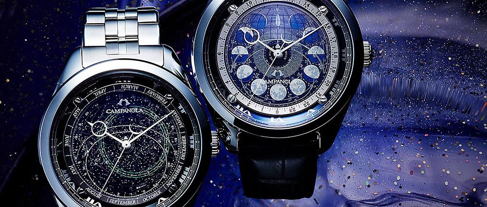 coleccion cosmosign de relojes de lujo japoneses campanola