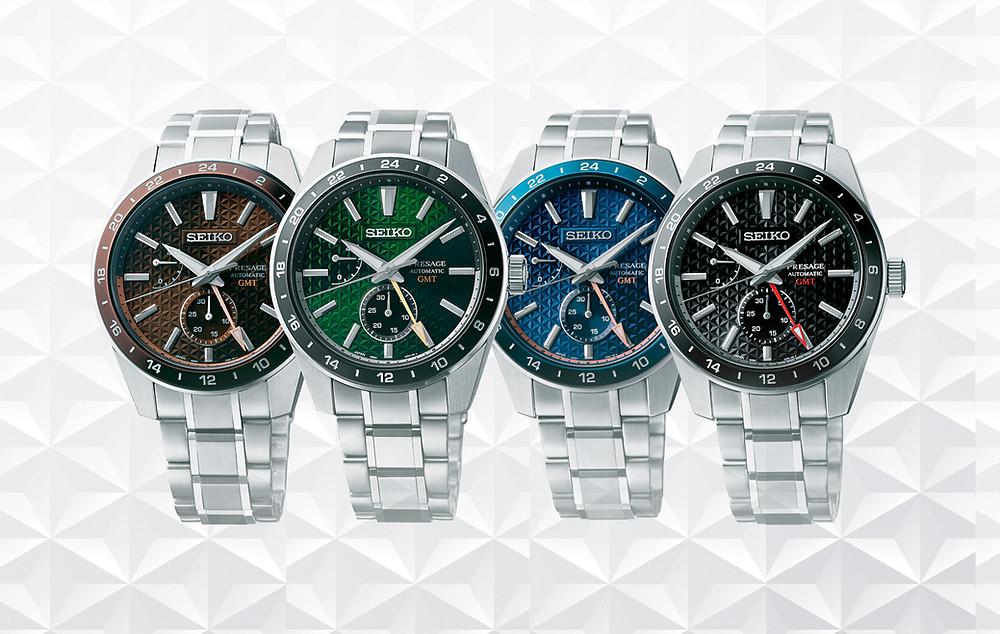 Novedad Seiko Presage 2021 sharp edged asanoha gmt serie 4 relojes automaticos