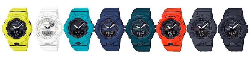 Colores disponibles relojes Casio G-Shock deporte GBA-800