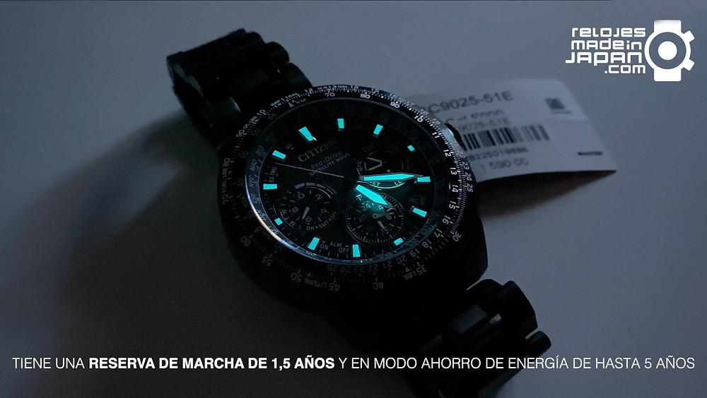 Citizen promaster Sky Premier Navyhawk gps titanio dlc CC9025-51E