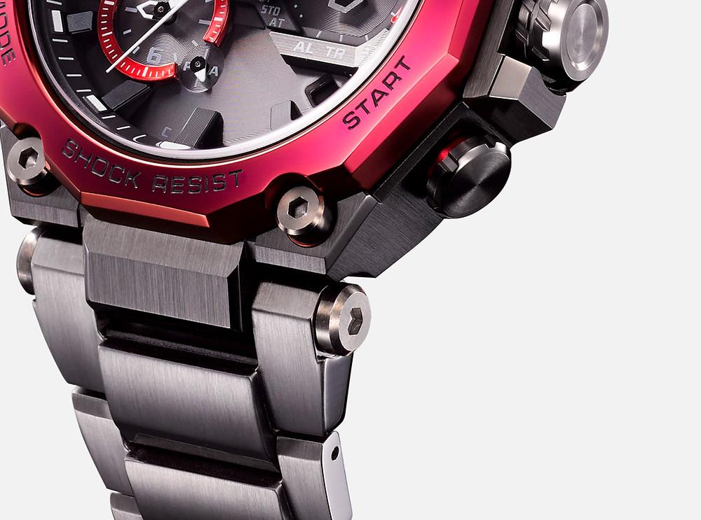 Detalle de la caja reloj MTG-B2000D-1A de nueva factura