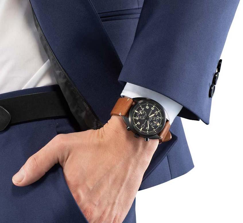 Nuevo reloj citizen pilot CA7045-14E correa piel