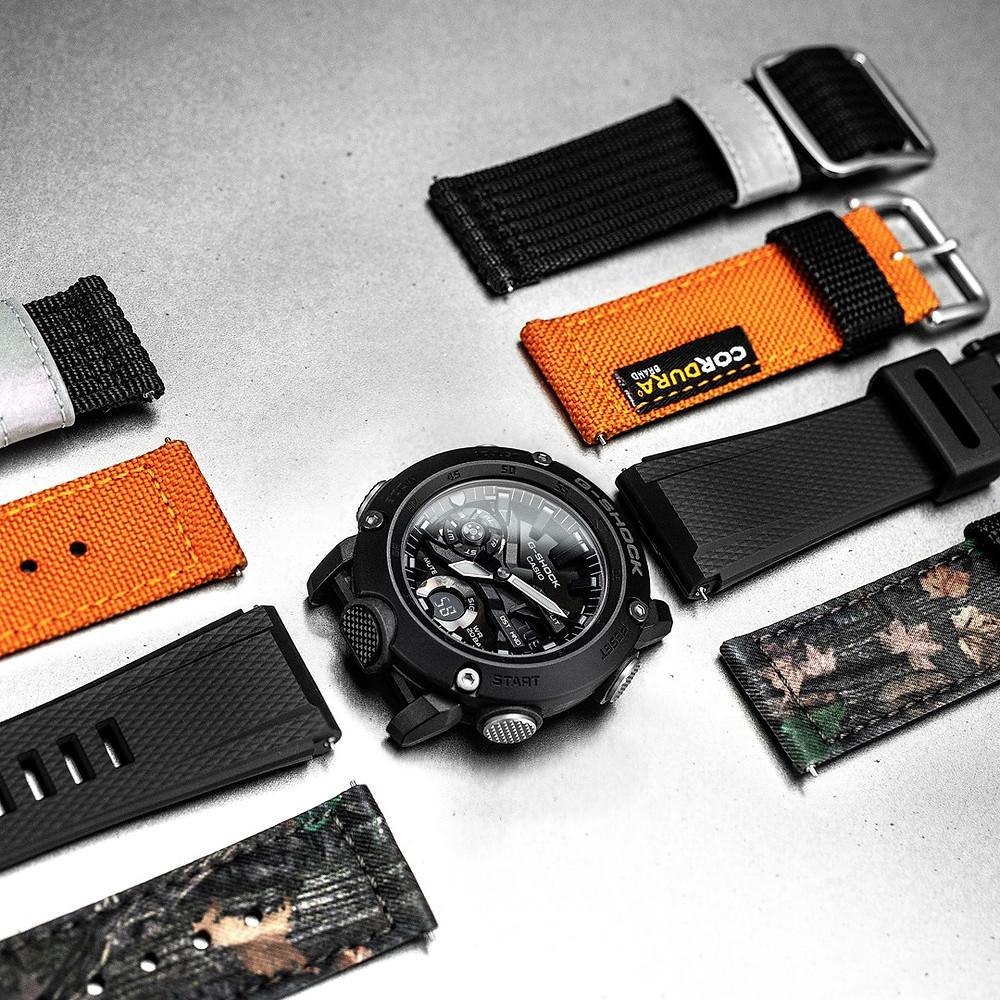 Algunas marcas de relojes japoneses disponen de correas intercambiables como recambios