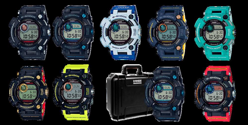 Todos los relojes g-shock frogman serie gwfd1000 fabricados desde 2016 hasta 2019
