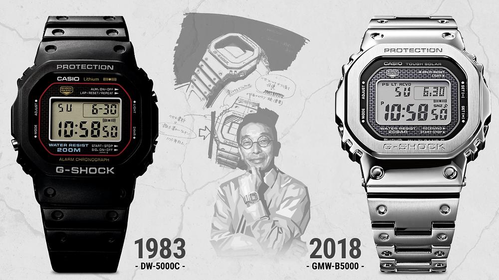 35 años de relojes Casio G-Shock DW5000 hasta GMW-B5000