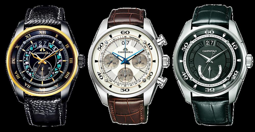 relojes coleccion mecanica Campanola movimientos automaticos calibre y513 esfera  lacada urushi