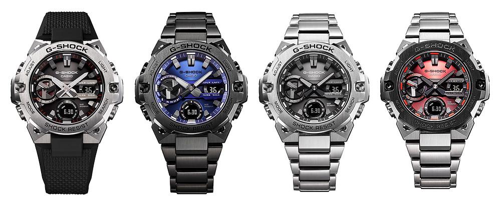 Nuevos G-Steeel, relojes 2021 modelos GST-B400-1A, GST-B400BD-1A2, GST-B400D-1A y GST-B400AD-1A4