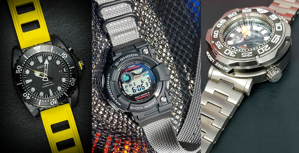 Ideas para cambiar el look de tu reloj diver's favorito, seiko o citizen o incluso G-Shock Frogman