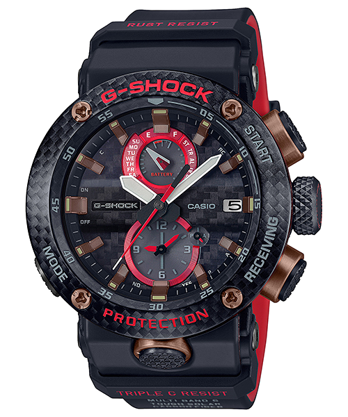 detalle esfera carbono nuevo Gravitymaster reloj G-Shock GWR-B1000X