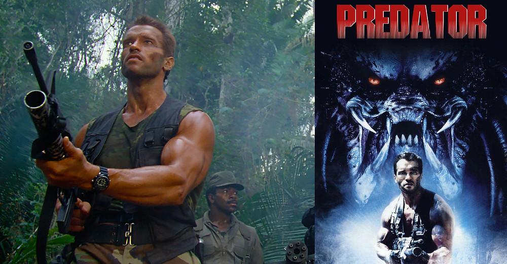 Arnold Schwarzenegger en Predator con reloj seiko Arnie SKJ029 nominador eloj año 2020