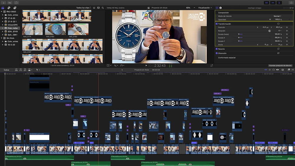 imagen postproduccion video analisis nuevos relojes famila seiko presage linea sharp edged asanoha