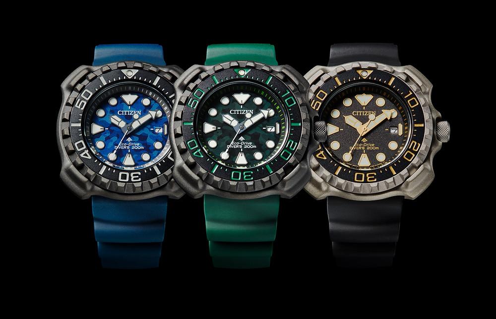 nuevos relojes diver's citizen 200m ecodrive 2021 modelos BN0227-09L