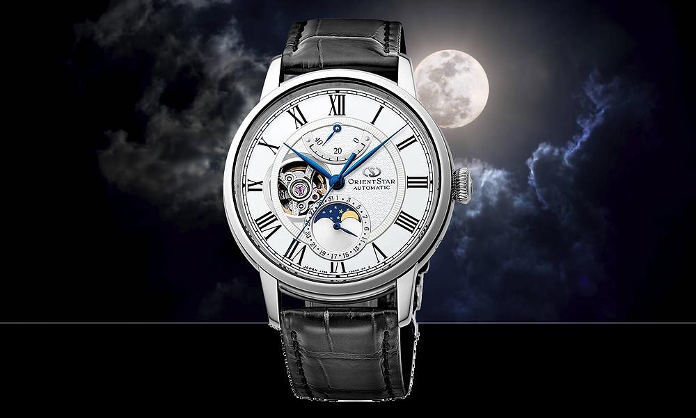 reloj Orient Star automatico con fases lunares referencia RE-AY0106S
