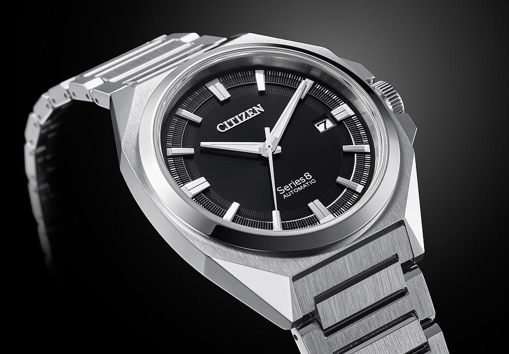 Detalle citizen mechanical series 8 reloj NB6010-81E